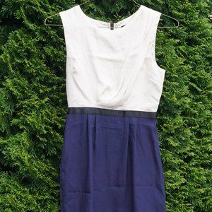 Topshop Petite Sleeveless Two Color Dress